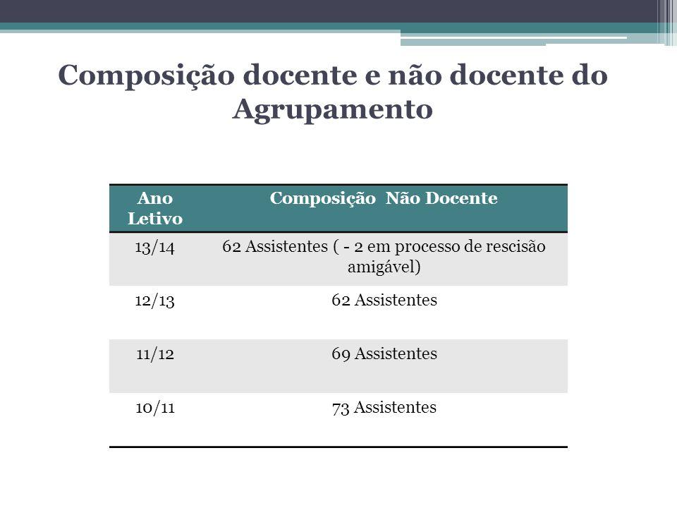 Composição docente e não docente do Agrupamento