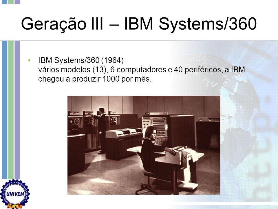 Geração III – IBM Systems/360