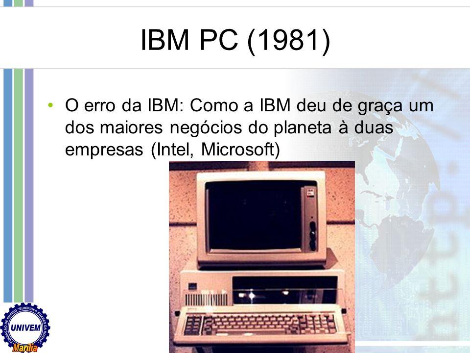 IBM PC (1981) O erro da IBM: Como a IBM deu de graça um dos maiores negócios do planeta à duas empresas (Intel, Microsoft)
