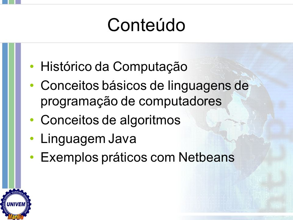 Conteúdo Histórico da Computação
