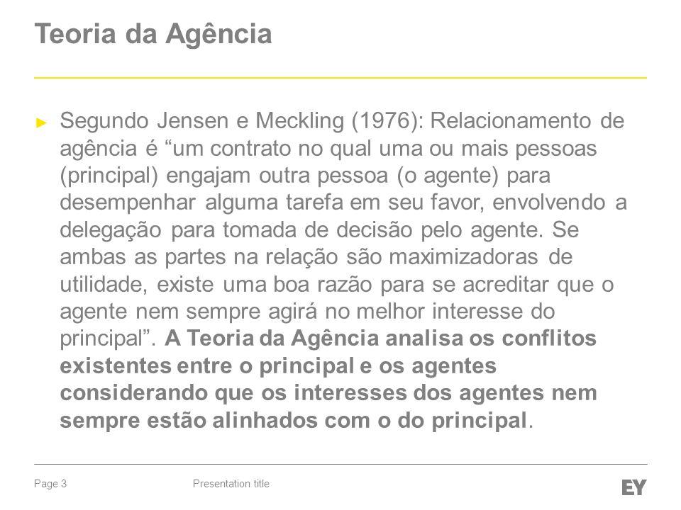 Teoria da Agência