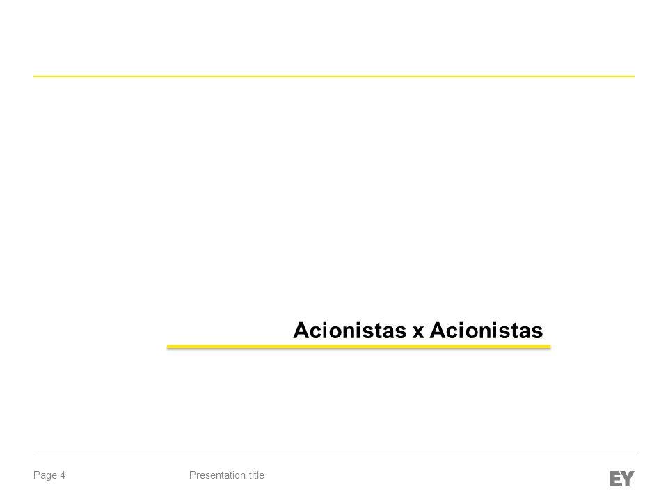 Acionistas x Acionistas