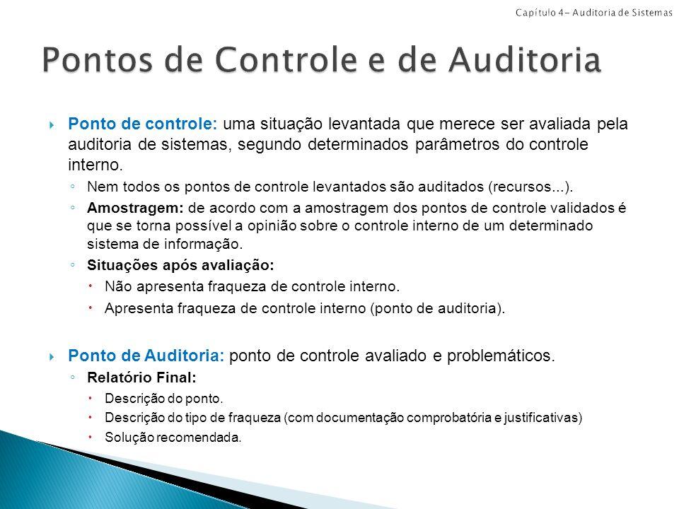 Pontos de Controle e de Auditoria