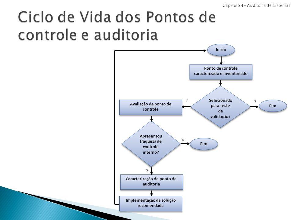 Ciclo de Vida dos Pontos de controle e auditoria