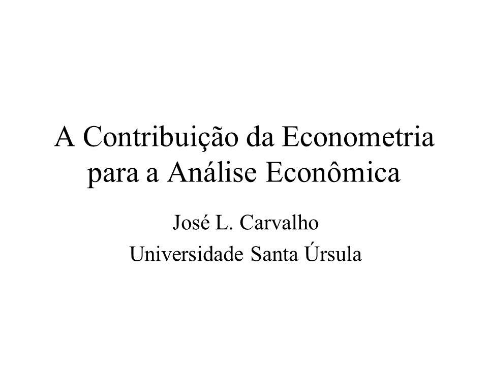 A Contribuição da Econometria para a Análise Econômica