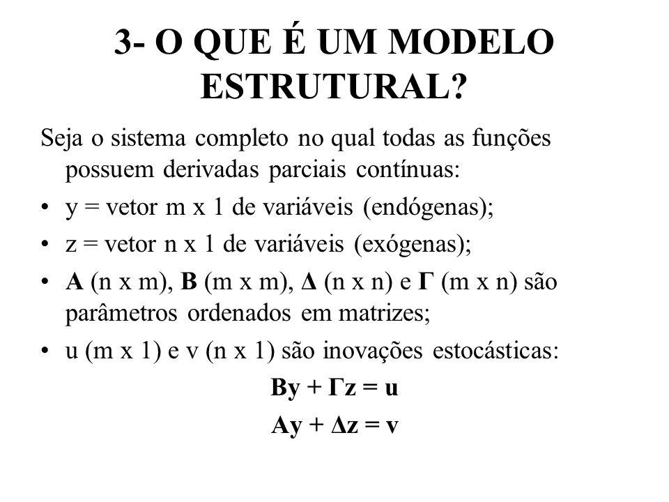 3- O QUE É UM MODELO ESTRUTURAL