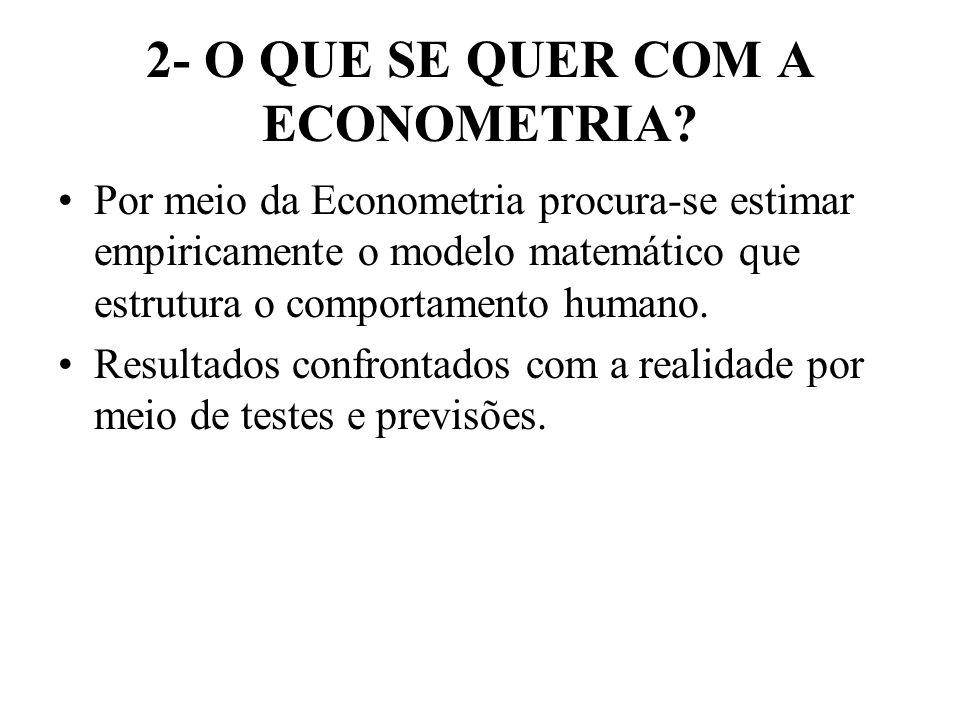 2- O QUE SE QUER COM A ECONOMETRIA