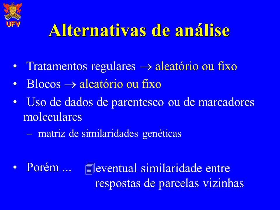 Alternativas de análise