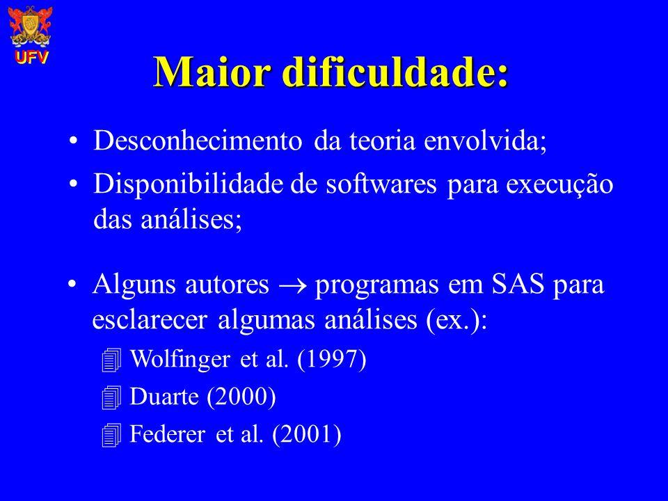 Maior dificuldade: Desconhecimento da teoria envolvida;