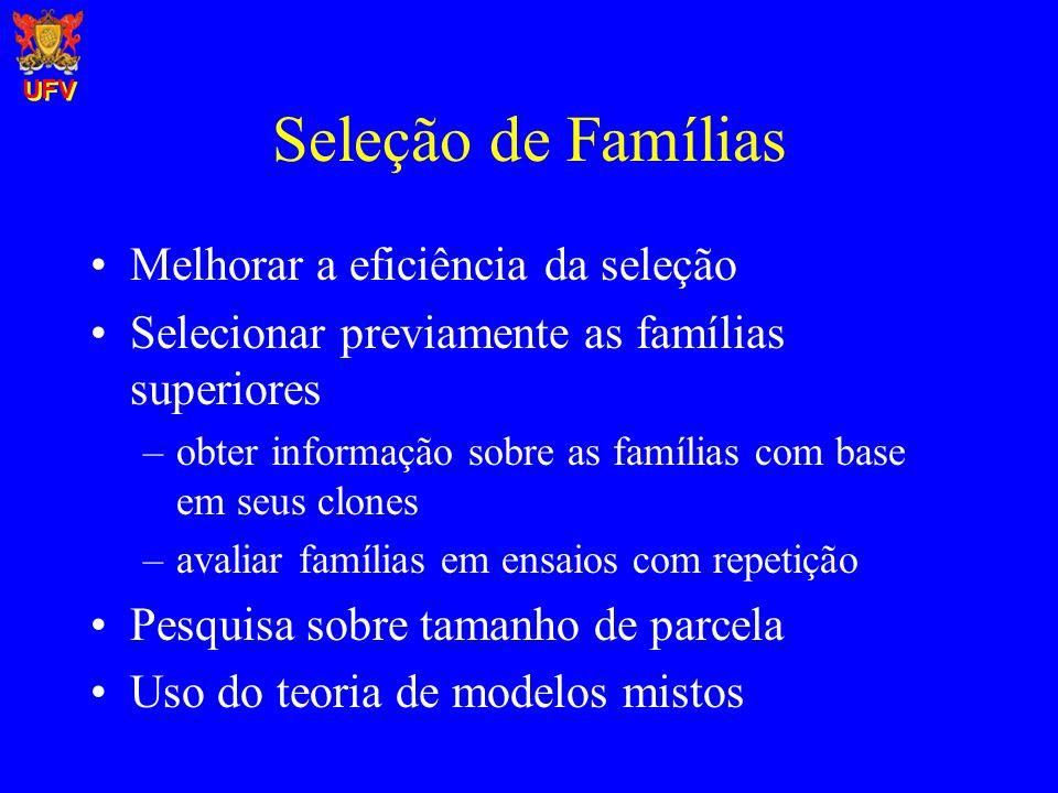 Seleção de Famílias Melhorar a eficiência da seleção