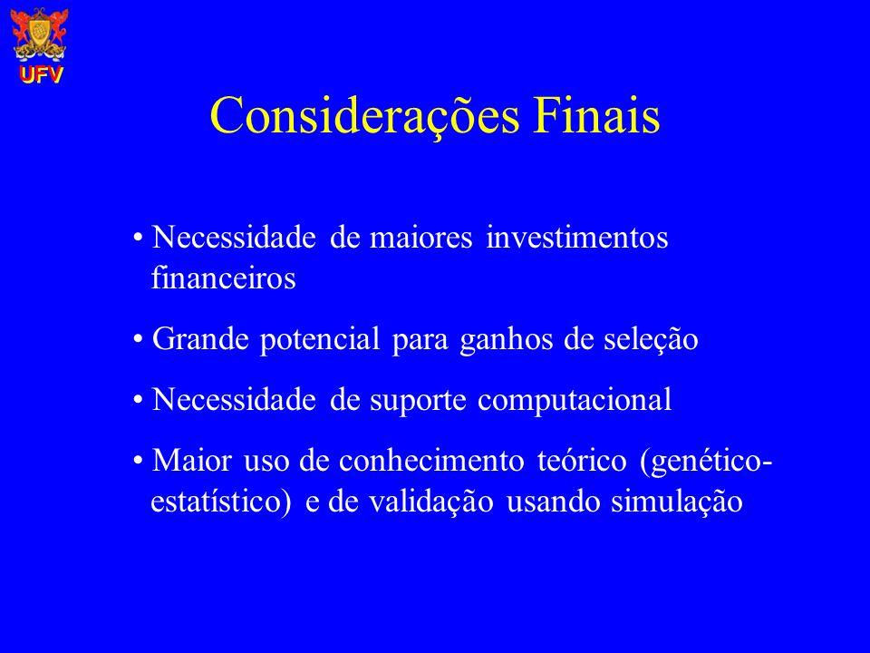 Considerações Finais Necessidade de maiores investimentos financeiros