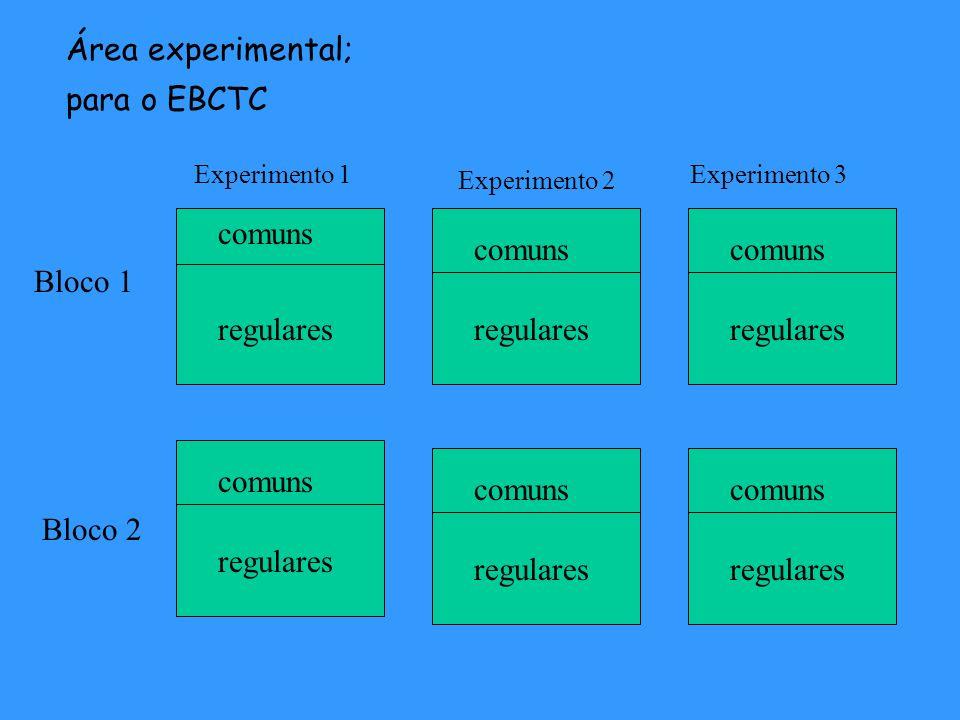 Área experimental; para o EBCTC comuns regulares comuns regulares