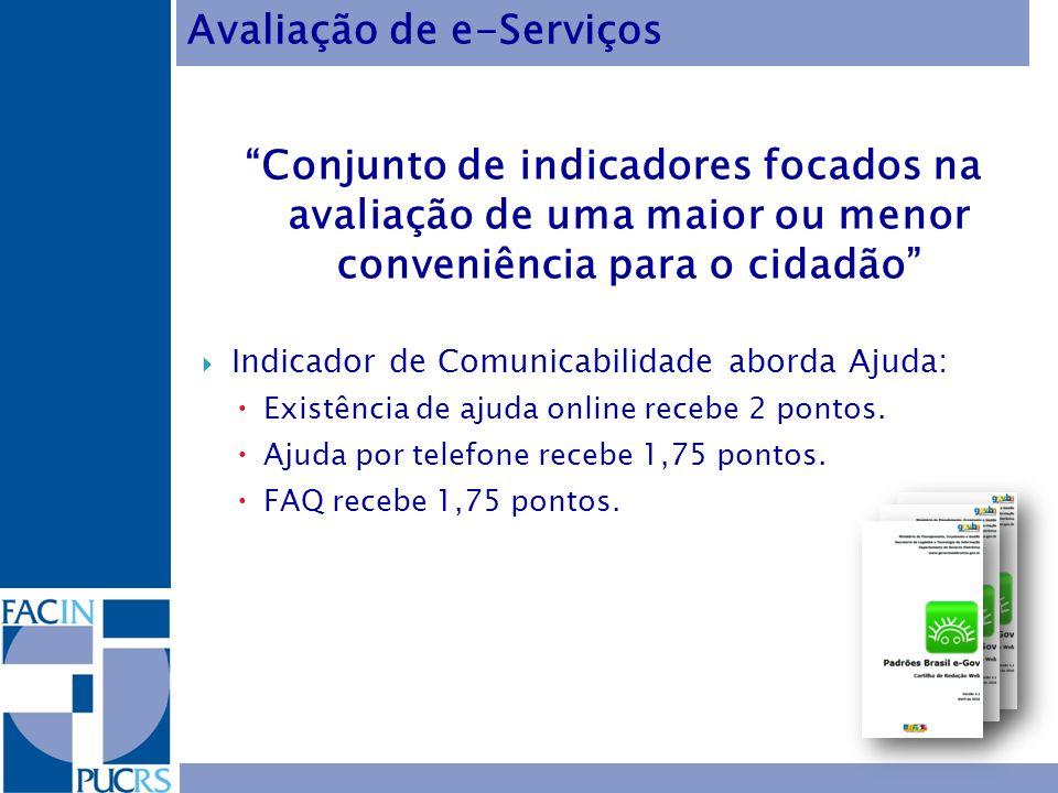 Avaliação de e-Serviços