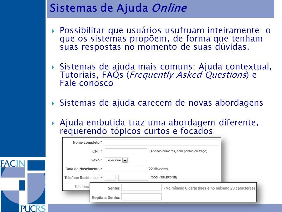 Sistemas de Ajuda Online