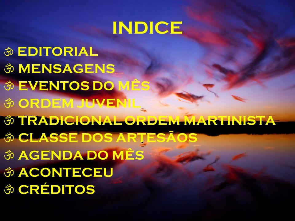 INDICE MENSAGENS EVENTOS DO MÊS ORDEM JUVENIL