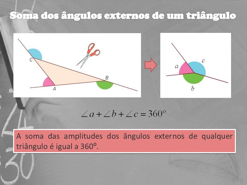 Soma dos ângulos externos de um triângulo