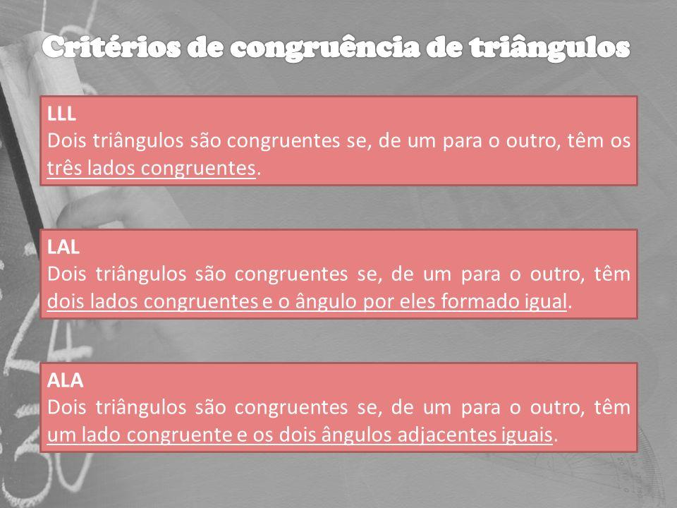 Critérios de congruência de triângulos