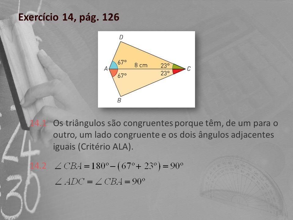 Exercício 14, pág. 126 14.1.