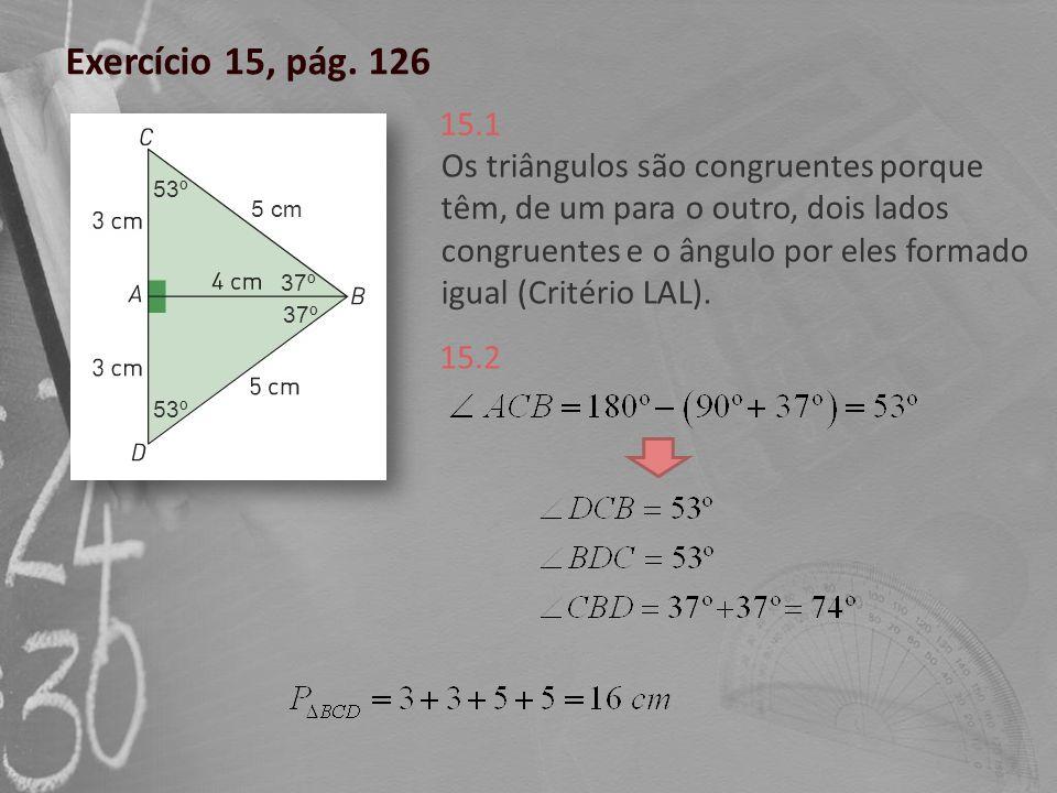 Exercício 15, pág. 126 15.1.