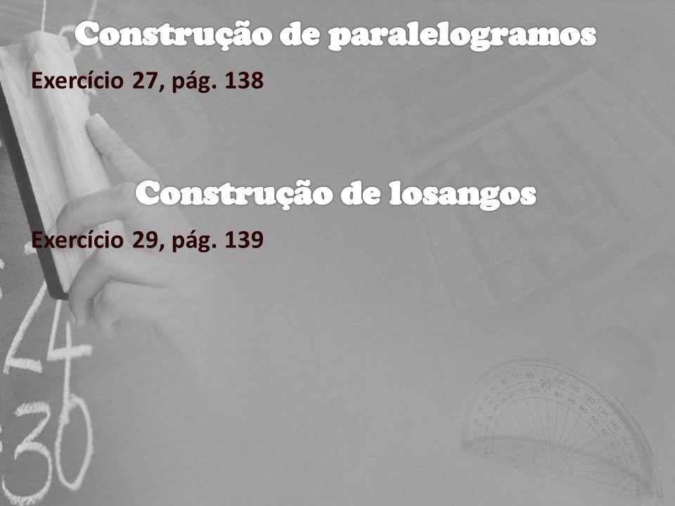 Construção de paralelogramos