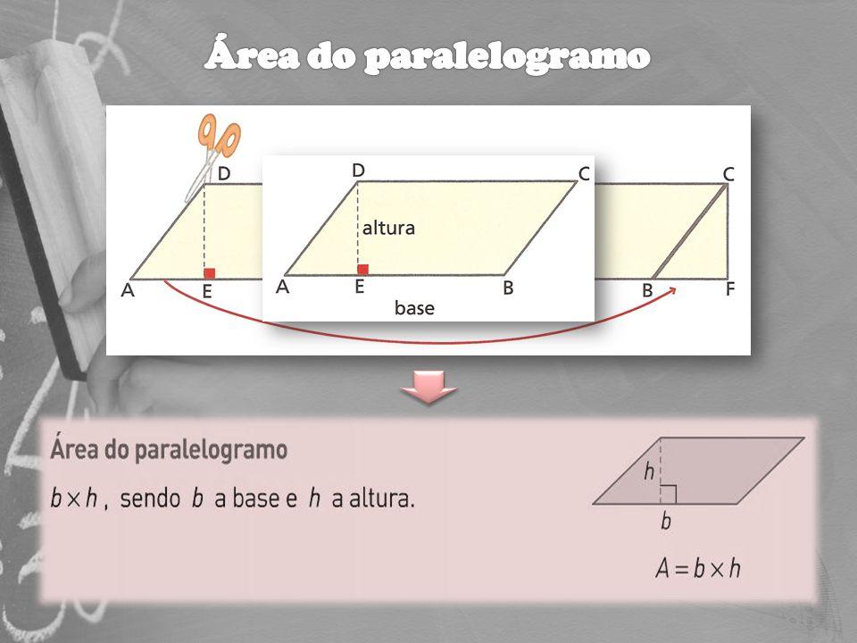 Área do paralelogramo Explicar o que é um ângulo externo.
