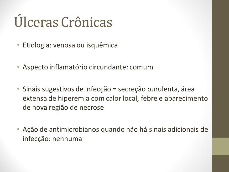 Úlceras Crônicas Etiologia: venosa ou isquêmica