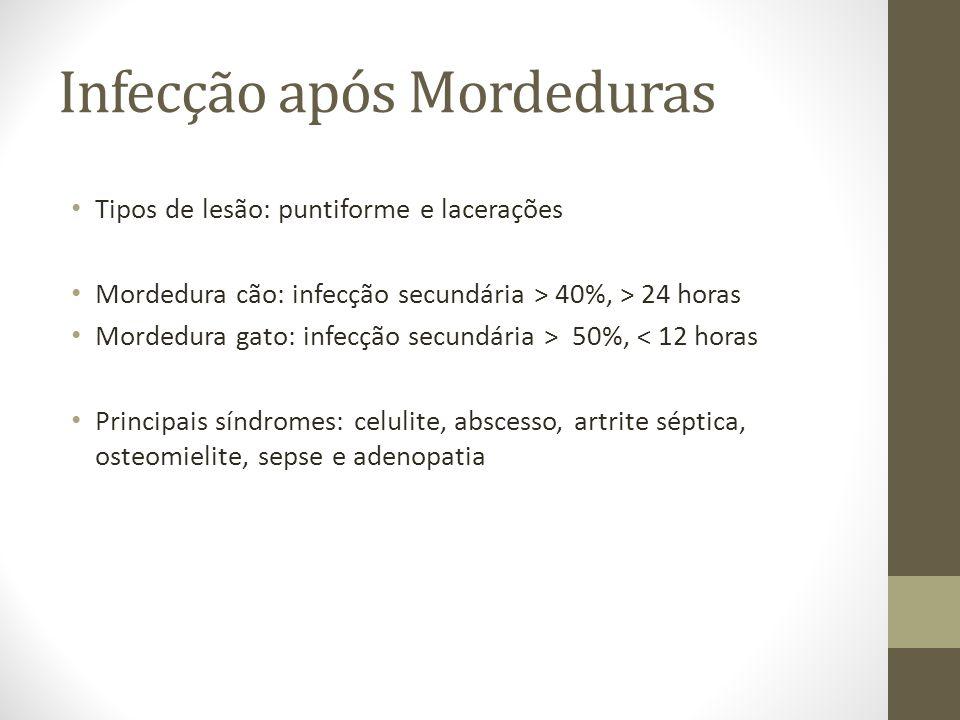Infecção após Mordeduras