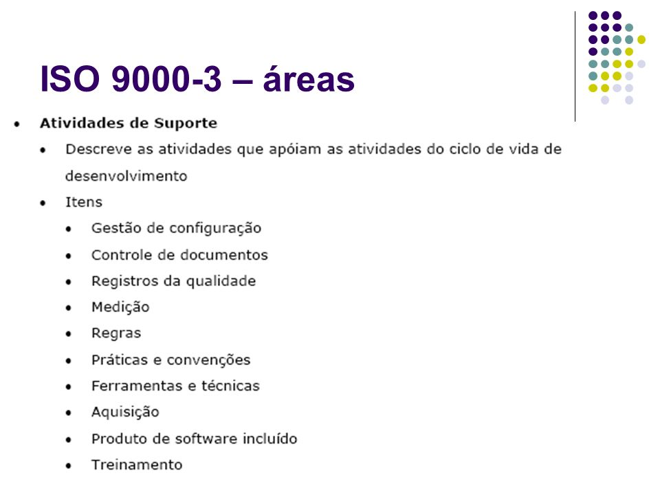 ISO 9000-3 – áreas