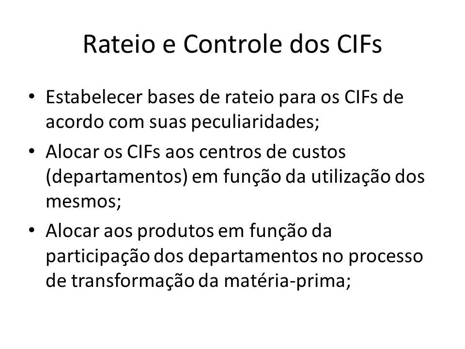 Rateio e Controle dos CIFs
