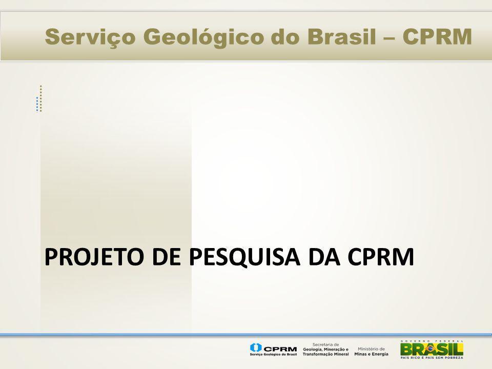 Projeto de pesquisa da CPRM