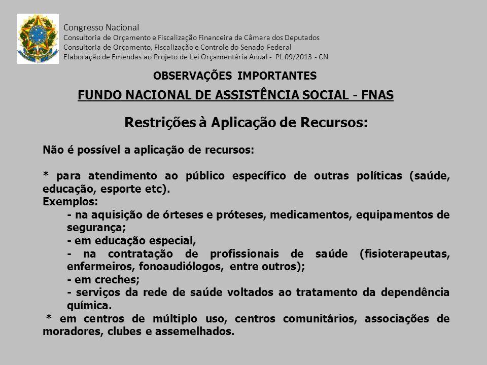 Restrições à Aplicação de Recursos: