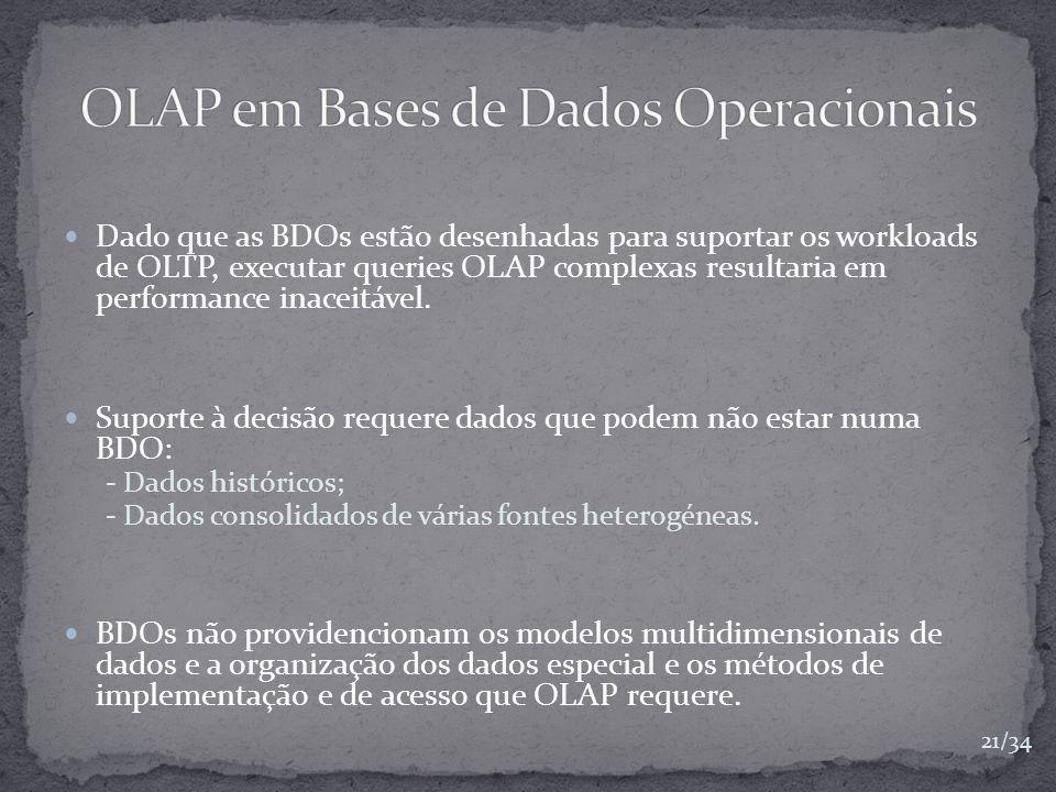 OLAP em Bases de Dados Operacionais