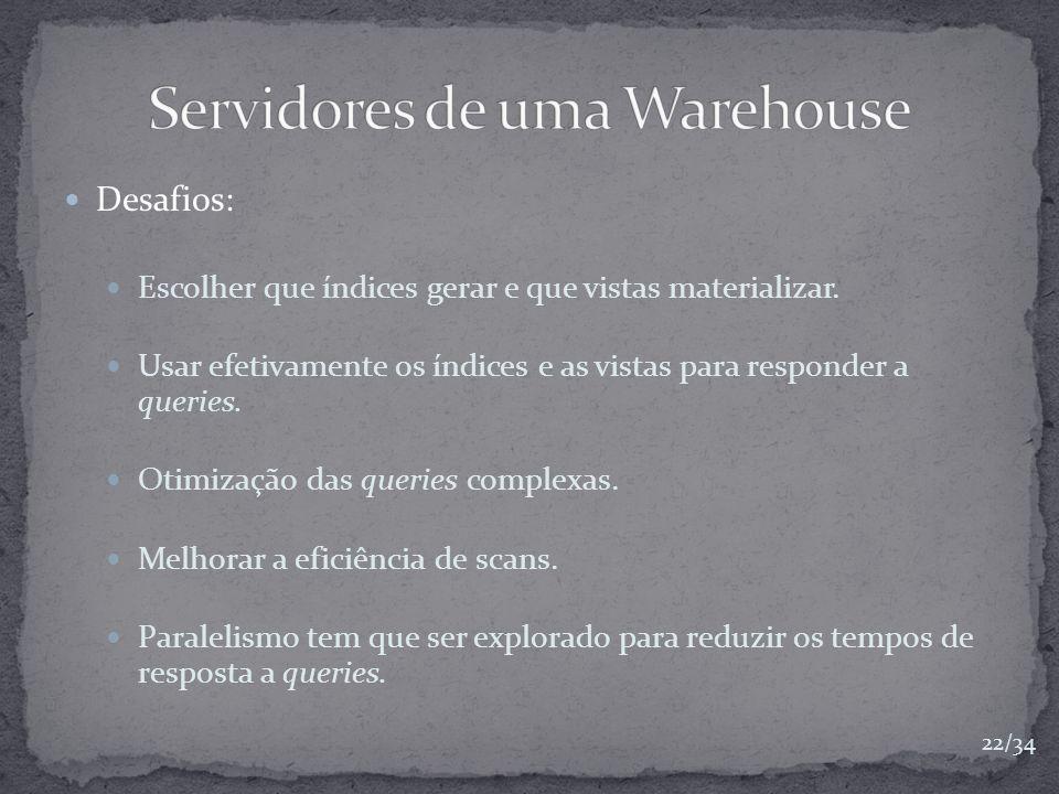 Servidores de uma Warehouse