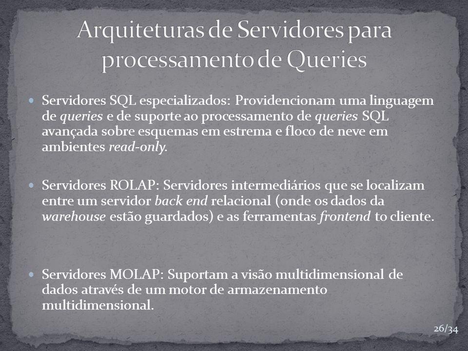 Arquiteturas de Servidores para processamento de Queries