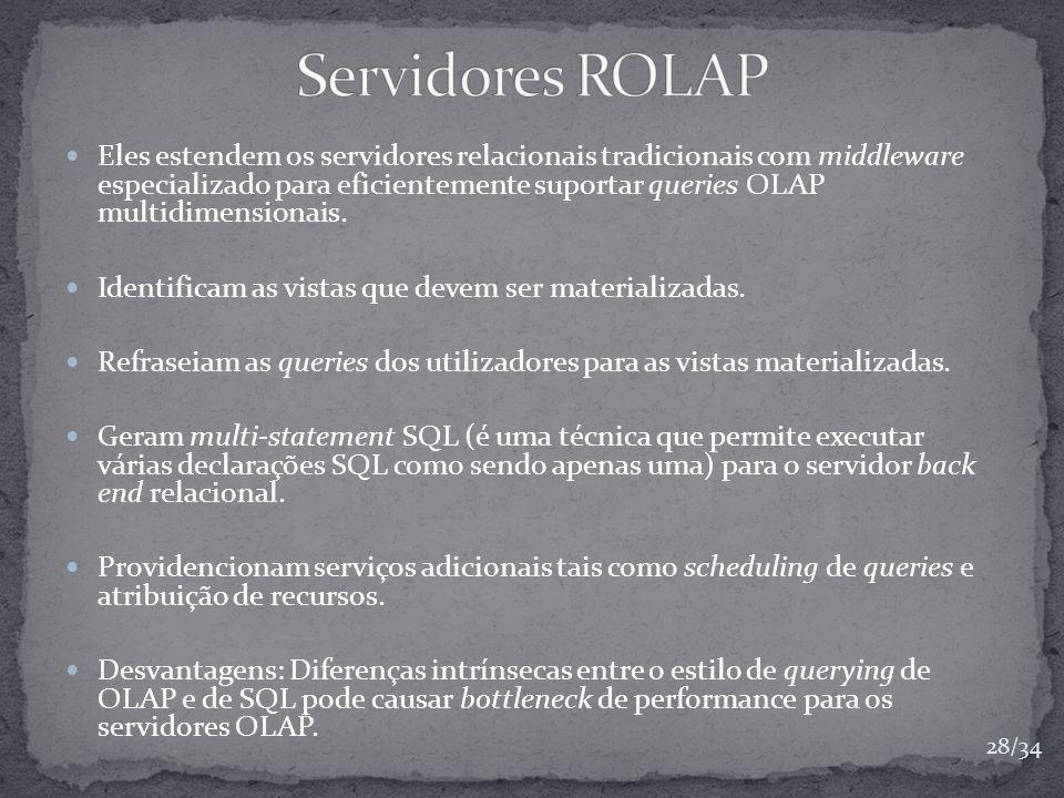 Servidores ROLAP
