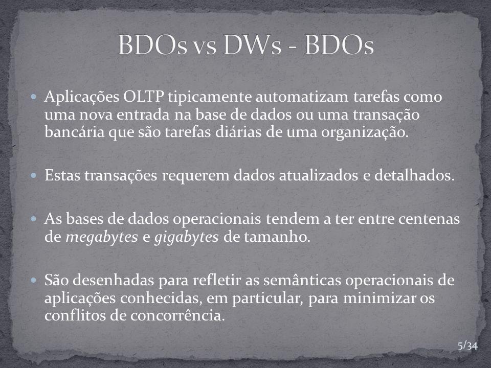 BDOs vs DWs - BDOs