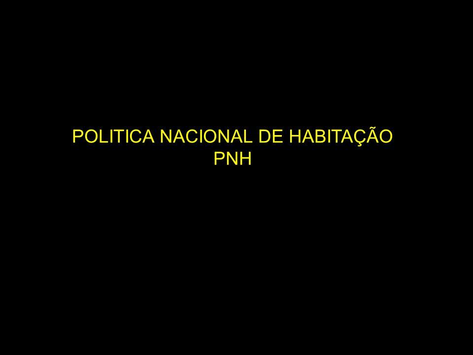 POLITICA NACIONAL DE HABITAÇÃO PNH