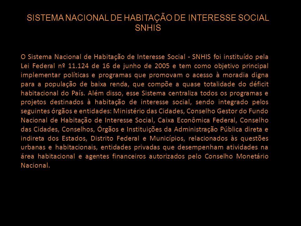 SISTEMA NACIONAL DE HABITAÇÃO DE INTERESSE SOCIAL