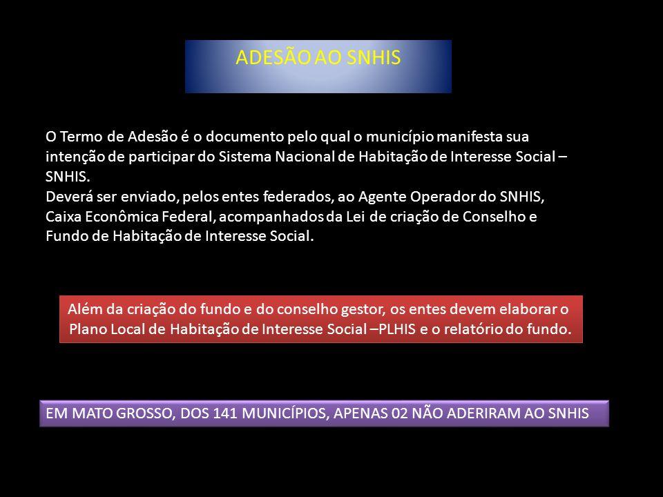 ADESÃO AO SNHIS