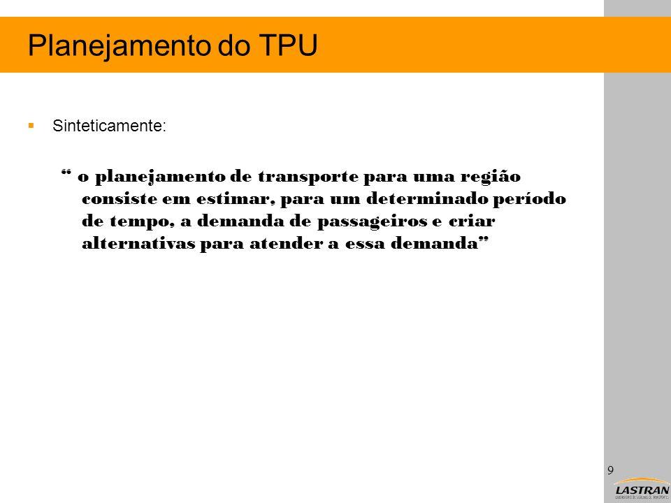 Planejamento do TPU Sinteticamente:
