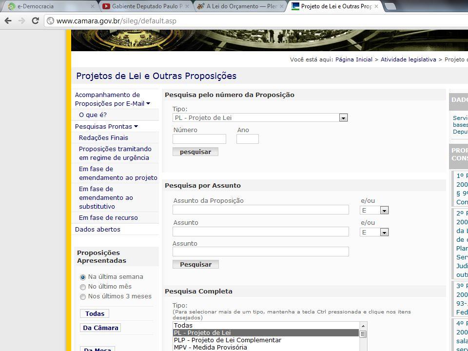 Você pode realizar pesquisas sobre um projeto ou tema específico.