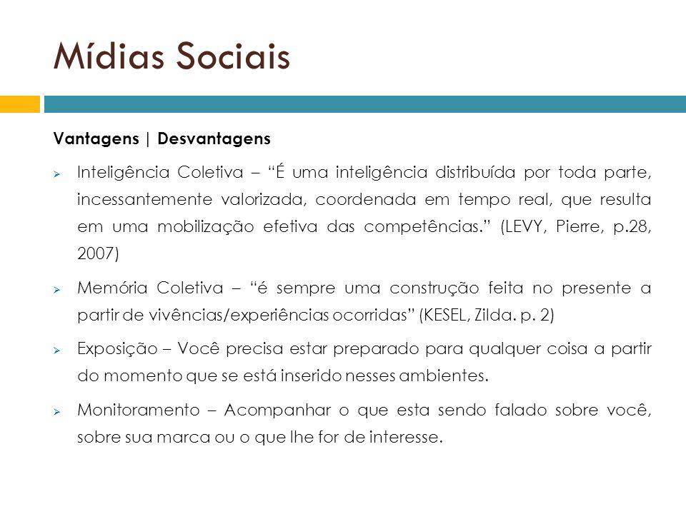 Mídias Sociais Vantagens | Desvantagens