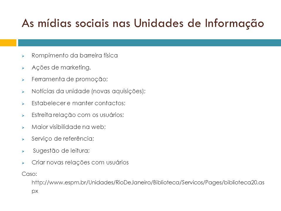 As mídias sociais nas Unidades de Informação