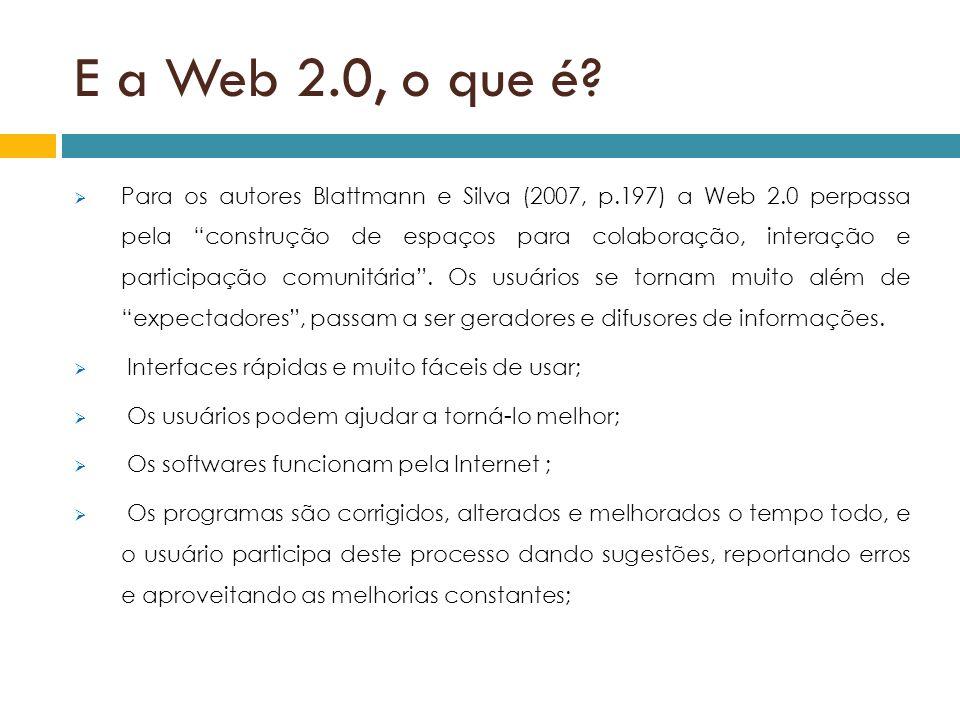E a Web 2.0, o que é
