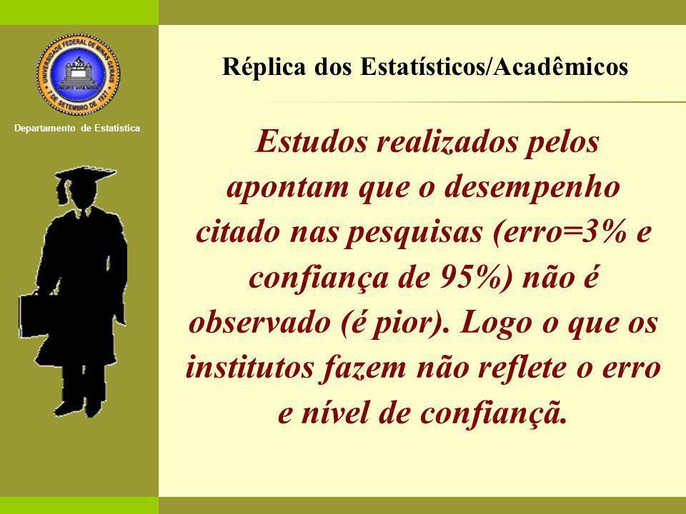 Réplica dos Estatísticos/Acadêmicos