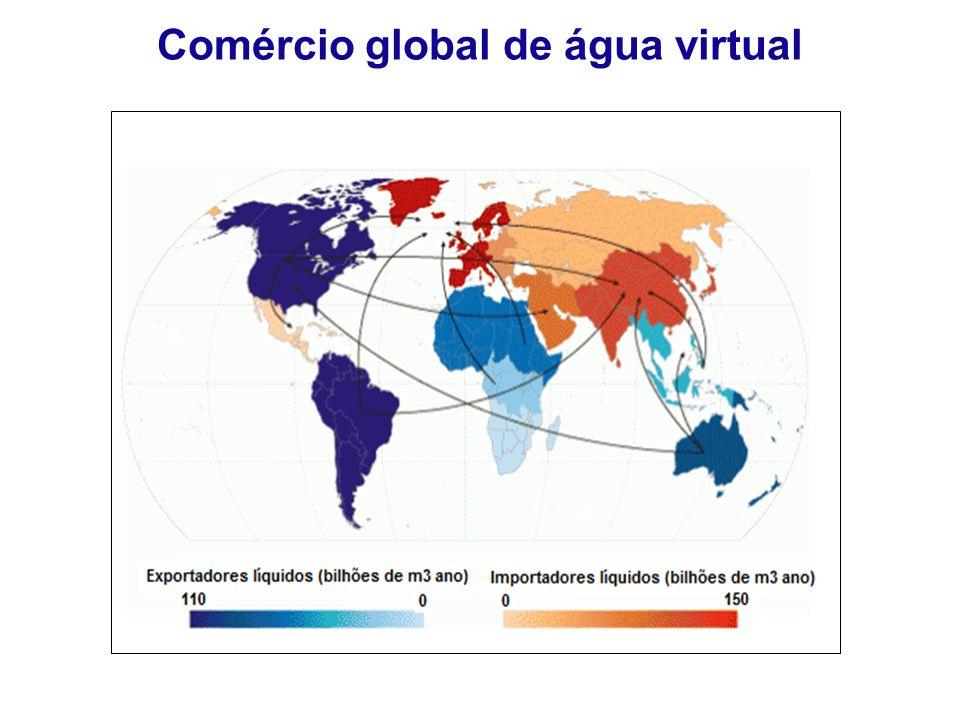 Comércio global de água virtual