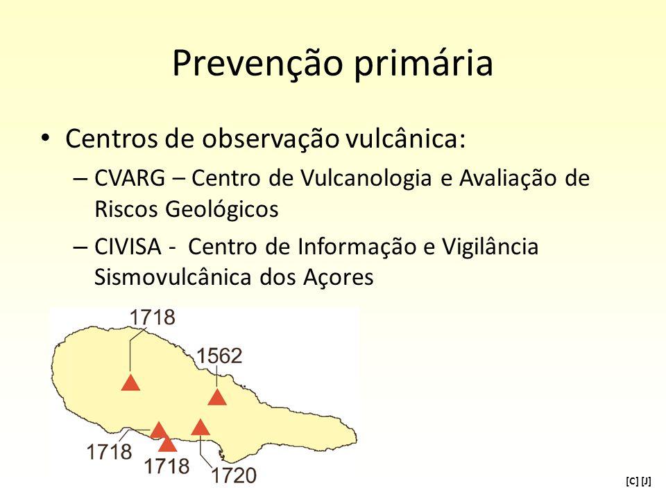 Prevenção primária Centros de observação vulcânica:
