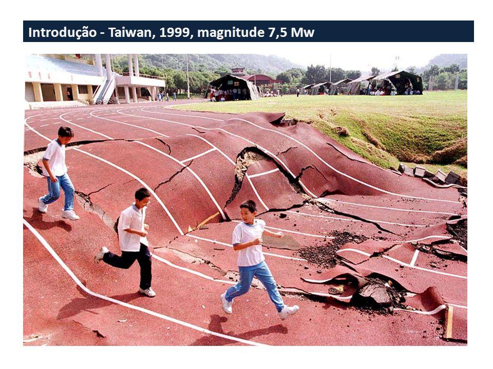 Introdução - Taiwan, 1999, magnitude 7,5 Mw