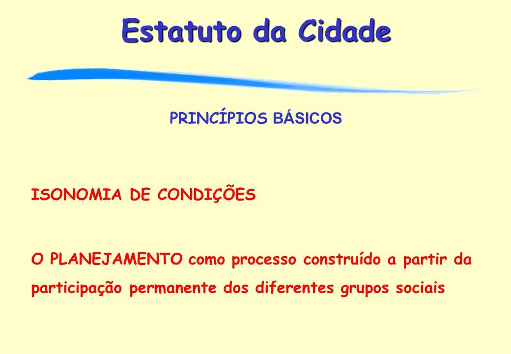 PRINCÍPIOS BÁSICOS ISONOMIA DE CONDIÇÕES.