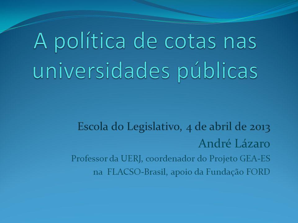 A política de cotas nas universidades públicas
